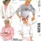 Hoodie Sweatshirt Jacket Sewing Pattern Button Cardigan Easy Vintage Unisex 40-42 9529