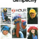 Winter Hats Sewing Pattern Beanie Jester Elmer Fudd Ski Snow Floppy Easy Mitten Vest Unisex 7356
