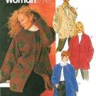 Plus Size Jacket Sewing Pattern Easy Button Zip Front Blanket Fleece Coat Unlined 26W-32W 2968
