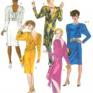 Draped Dress Sewing Pattern Disco Retro Mod 80s Scarf Easy Evening Party Sexy 12-16 2249