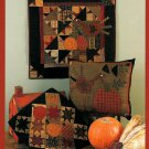 Turkey Tracks Wall Quilt Pillow Pattern Patchwork Holiday Fall Harvest Star Thanksgiving Applique