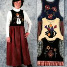 Seasons Jumper Sewing Pattern Pansy Tulip Sunflower Snowman Applique Spring Fall Summer Winter