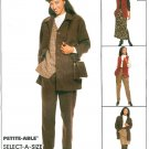 Pantsuit Sewing Pattern Separates Pants Jacket Vest Skirt Easy Pull-on 12 14 16 8905