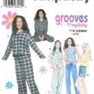 Juniors Pajama Sewing Pattern Easy Top Pant Shorts Tank 3-10 8911