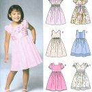 Girls Easy Dress Sewing Pattern Raised Fitted Bodice Short Sleeve Sleeveless Full Skirt 3-8 5704