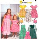 Girls Dress Sewing Pattern Raised Bodice Overlay Skirt Short Long Sleeve Easy Easter 7-14 9497