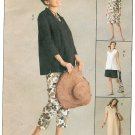 Maternity Wardrobe Sewing Pattern Pullover Tunic Top Pant Capri Dress Shorts 4-14 3940