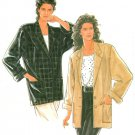 Boxy Jacket Coat Sewing Pattern Loose Easy Vintage Extended Shoulder Button 10-20 9827