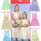 Girls Flared Skirt Sewing Pattern Easy Fitted Bodice Sleeveless Spring Easter Summer 7-12 5033