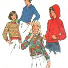 Misses Sweatshirt Jacket Sewing Pattern Vintage Pullover Hoodie Zip Front 10 6490