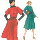 Vintage Vogue Sewing Pattern Dolman Sleeve Dress Kimono 70s Retro Mod Below Knee 12 9576