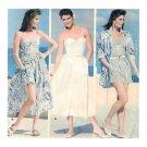 Corset Top Skirt Sewing Pattern Shorts Strapless Tank Vintage 80s Beach Summer 8-12 5672