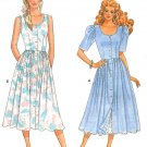 80's Sweetheart Dress Sewing Pattern Petticoat Fitted Bodice Full skirt Button Front 12-16 6194