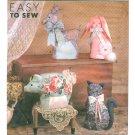 Plush Toy Sewing Pattern Cat Duck Pig Rabbit Reindeer Deer Animal Barn Farm Pets  9644