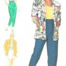 Raised Waist Shorts Pants Sewing Pattern Loose Jacket Top Cropped Capri Easy Vintage 10 7381