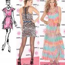 Funky Dress Sewing Pattern Sleeveless Tiered Skirt Slim Short Sexy Flounce Runway 4-18 1897
