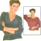 Easy Pullover Top Sewing Pattern Vintage 70s Retro Disco Loose Dolman Sleeve 10/12 6671