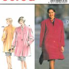 Burda Sewing Pattern Swing Coat Stand Up Collar Raglan Sleeve Loose Fit Knee Plus 16-28 4703