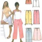 Easy Plus Crop Pants Sewing Pattern Capri Shorts Drawstring Split Skirt Goucho 14-22 5062