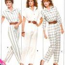 Misses Jumpsuit Sewing Pattern Easy Vintage 80s Disco Long Short Cap Sleeve Loose Fit 6 8 10 6087