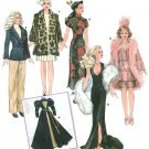 Couturier Gene Tyler Doll Clothes Pattern 15.5 Flapper Dress Jacket Stole Coat Medieval Kimono 9049