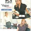 Anne Klein Vogue Sew Pattern 6-10 Fashion Blouse Wrap Front Button Loose Pullover Vintage Easy 2069