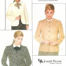 Picone Vogue Blazer Suit Jacket Sewing Pattern 6 Crop Button Lined Coat Career Work Vintage 80s 2828