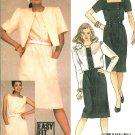 Square Neck Dress Crop Jacket Sewing Pattern Vintage Retro Mod Button Front Knee Length Plus 18 9002
