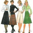 Easy Inverted Pleat Skirt Sewing Pattern 70's Vintage Knee Below Knee 12 7625