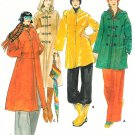 Lined Coat Sewing Pattern Maxi Trench Duffle Rain Jacket Boyfriend Toggle Button Vintage 10 5101