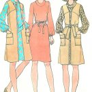 Cowl Neck Dress Sewing Pattern Vintage Tie Coat Vest Above Knee Long Sleeve Easy Size 14 3751