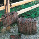 Quilted Bags Sewing Pattern Tote Travel Luggage Gym Overnight Scissors Notions Case