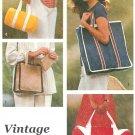 Tote Bags Sewing Pattern Easy Duffle Handbag Square Shopper Bookbag Gym Travel Vintage 8874