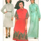 70s Retro Top Skirt Sewing Pattern Ruffle Tie Neckline Maxi Knee Length Loose Fit Disco 12 8309