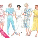 Jumpsuit Sewing Pattern Short Dress Capri Drop Shoulder Loose Retro Vintage 12-16 3634