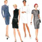 Slim Fit Sheath Dress Sewing Pattern 90s Sleeveless Sexy Long Short Sleeve Easy 10-14 8343