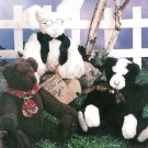 Plush Cat Bear Bunny Sewing Pattern Jointed Stuffed Animal Pet Baby Child Toy Gift 2507