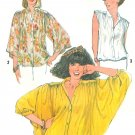 Butterfly Sleeve Blouse Sewing Pattern Vintage Winged Kimono Tunic Size 12 8348