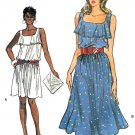 Vogue Vintage Sewing Pattern Ruffle Top Sundress Sleeveless Dress Flounce 6 8 10 8664 Easy