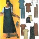 Women's Plus Sewing Pattern Jumper Dress Top Pant Easy Wardrobe 26W-32W 9294
