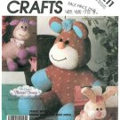 Plush Animal Sewing Pattern Rabbit Lamb Bear 80s Pleasant Dreams Child Nursery Stuffed Toy 3211