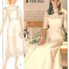 Vintage Wedding Gown Sewing Pattern High Neck Lace Victorian Renaissance Bridesmaid Dress 8 8521