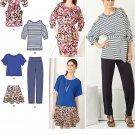 Fashion Wardrobe Sewing Pattern Top Cut Out Shoulder Skirt Pants Dress Modern 4-12 2190