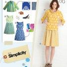 Lisette Dress Short Jacket Sewing Pattern Business Chic Above Knee Princess Seam 6-14 2209