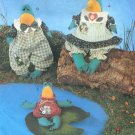 Pond Frogs Sewing Pattern Dinglehoppers Doll Stuffed Animal Shelf Sitter 17 Inch 3594
