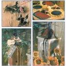 Crow Dolls Sewing Pattern Black Bird Kitchen Porch Home Decor Watermelon Sunflower Place Mat 8930