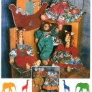 Noahs Ark Sewing Pattern Giraffe Lion Elephant Clothes Wall Hanging Nursery Baby Decor Church 9509