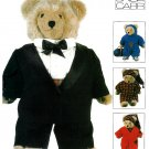 "Vogue Sewing Pattern Teddy Bear Clothing 23"" Tuxedo Sweatsuit Nightgown Robe 9093"