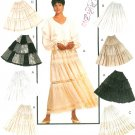 Broomstick Tiered Skirt Sewing Pattern 10 14 Boho Hipster Gypsy Easy Pull On Ankle Length 6889
