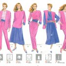 Knit Wardrobe Sewing Pattern 16-22 Plus Easy Skirt Pant Top Vest Jacket Vintage Units 4225